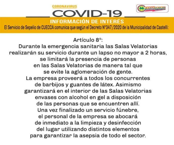 CUECCA: INFORMACIÓN DEL SERVICIO DE SEPELIO