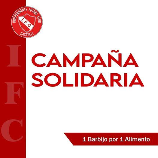 Independiente lanza una campaña solidaria «UN BARBIJO POR UN ALIMENTO»