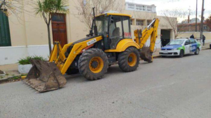 La máquina que había sido sustraída ya está en Castelli