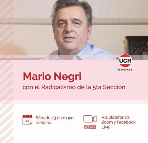 Radicales de Castelli se reúnen por zoom con el diputado Negri