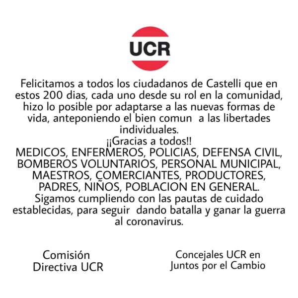 Comunicado de la UCR