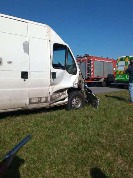 Una mujer resultó herida tras accidente en autovía 2